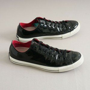 Converse Mens CT Patent Leather Ox Sneakers Size 11 Black Lace Up 111133